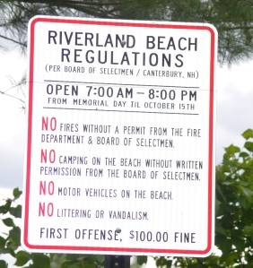 Riverland new sign regulations light