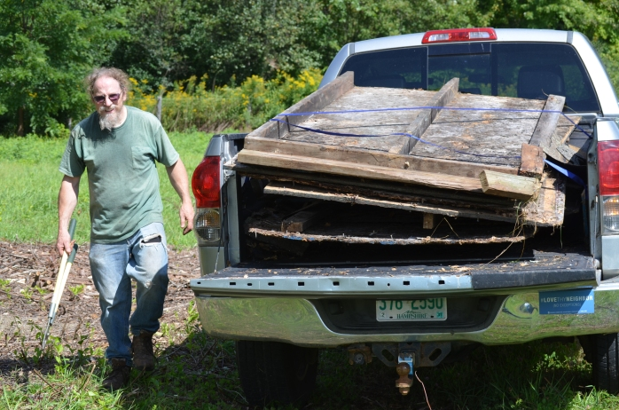 Invasives shed to dump